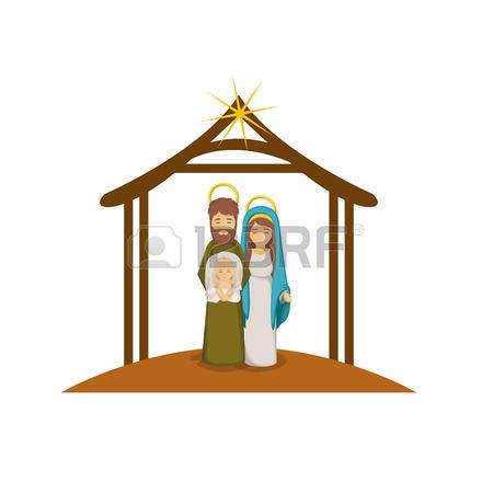 450x450 Holy Family Icon. Nativity Merry Christmas Season And Decoration
