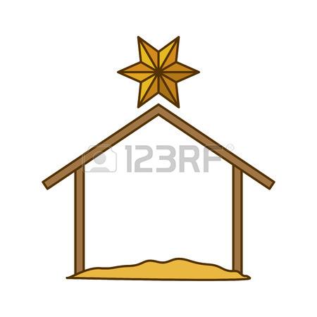 450x450 Holy House Icon. Nativity Merry Christmas Season And Decoration