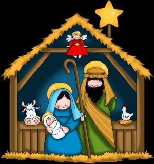 300x320 Merry Christmas Nativity Clip Art Happy Holidays!