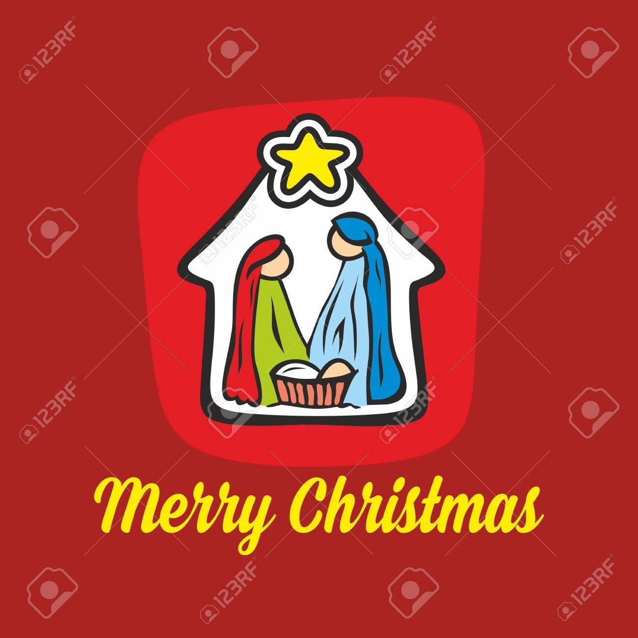 1300x1300 Merry Christmas. Nativity Scene Royalty Free Cliparts, Vectors