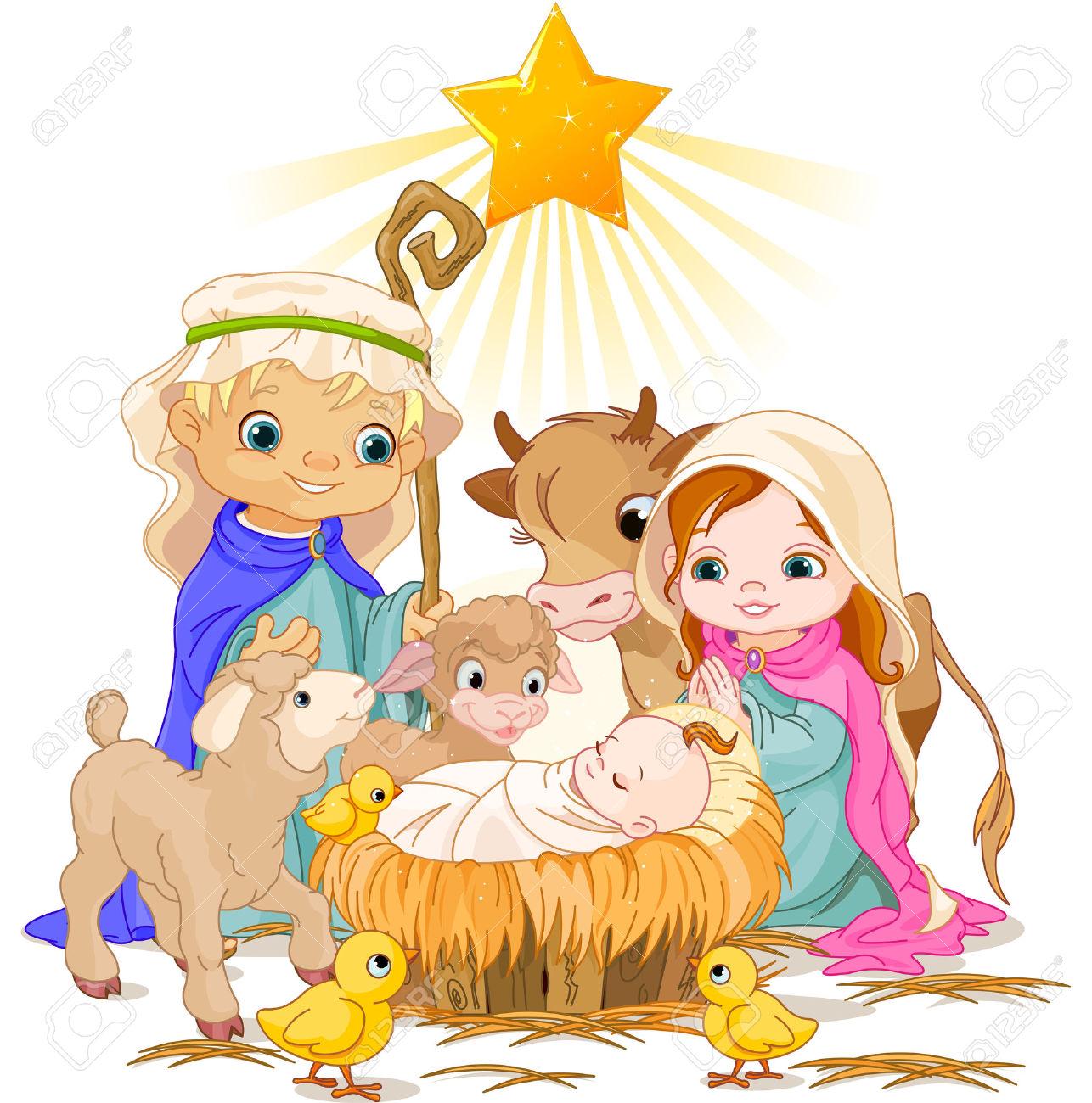 1286x1300 Classic Nativity Clip Art Merry Christmas Amp Happy New Year Arts