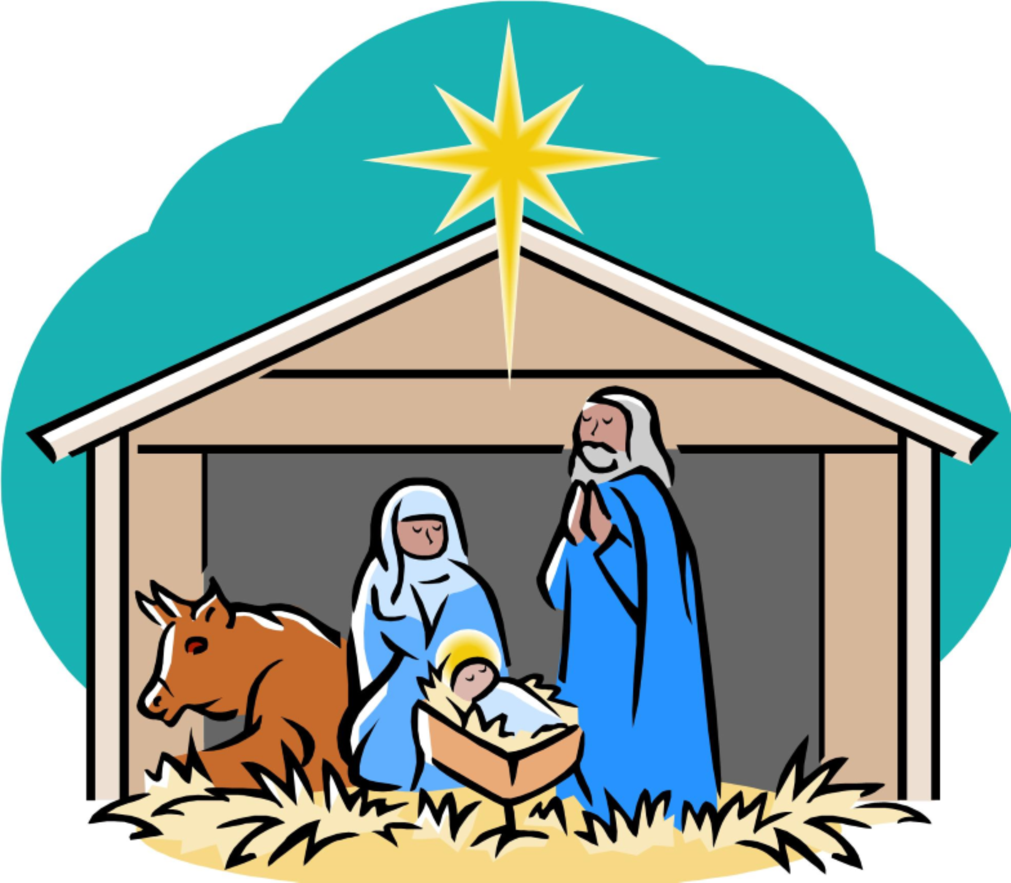 Merry Christmas Nativity Clipart | Free download on ClipArtMag
