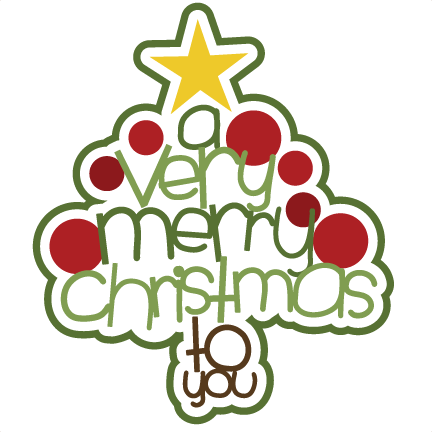 432x432 Cute Merry Christmas Clipart Happy Holidays!