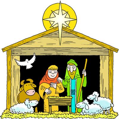 400x397 Jesus Christmas Clip Art Happy Holidays!
