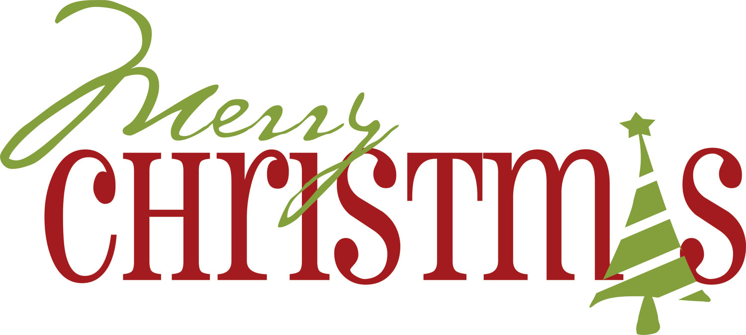 1500x674 Merry Christmas Clipart Words Free