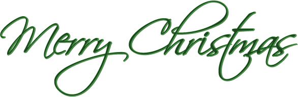 586x192 Merry Christmas Clipart Clip