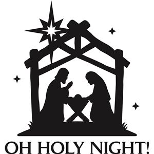 300x300 Silhouette Nativity Clip Art Merry Christmas Amp Happy New Year Arts