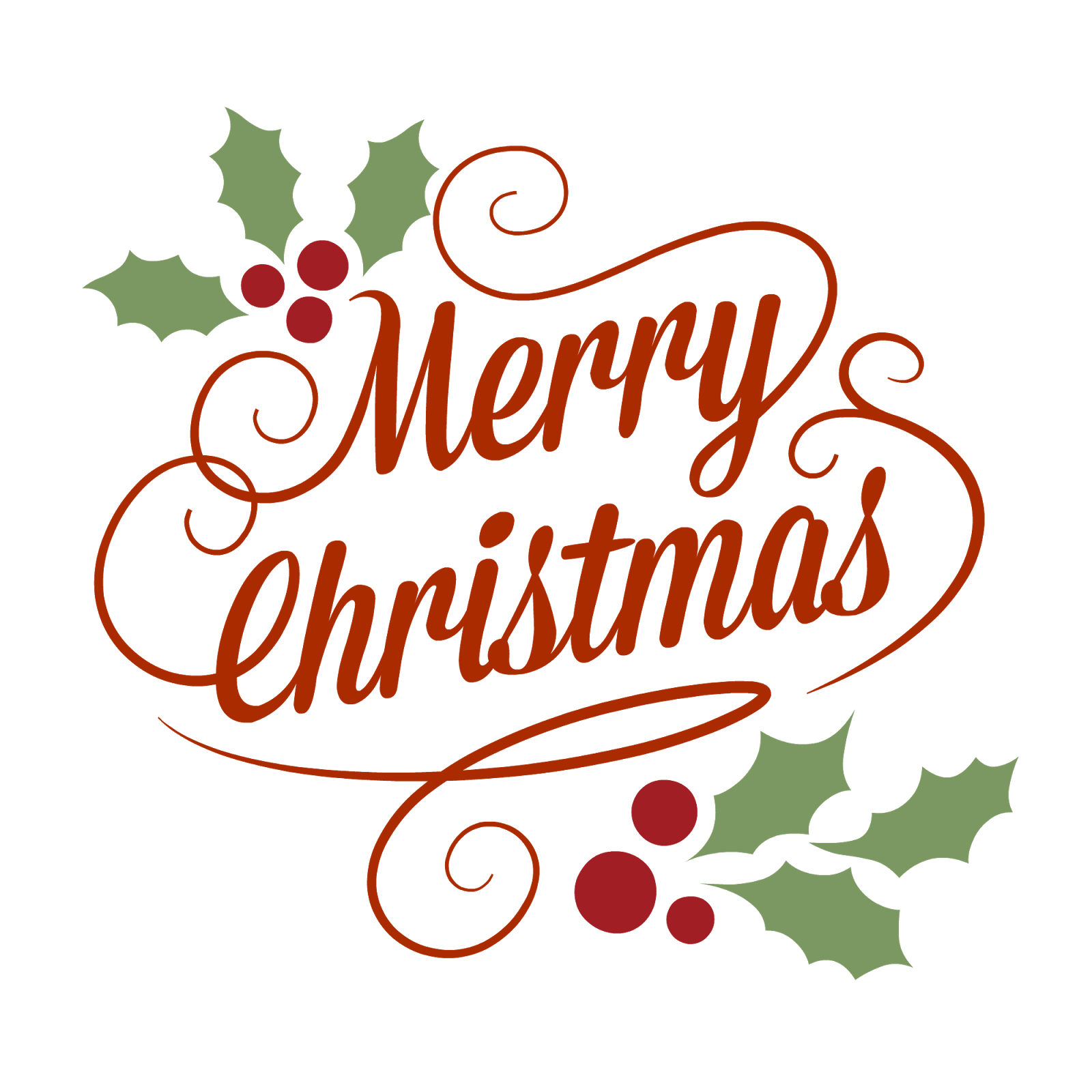 1600x1600 Merry Christmas Classical Vintage Sign Transparent Png