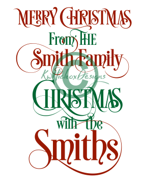 283x371 Merry Christmas From The Smith Family Svg, Christmas Png File