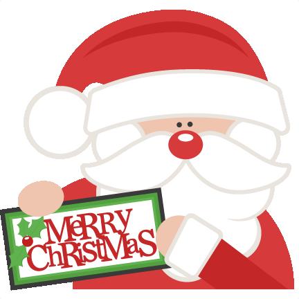 432x432 Merry Christmas Santa Svg Scrapbook Cut File Cute Clipart Files