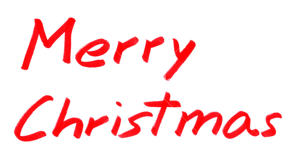1000x555 Merry Christmas Text Written In Red For Greeting Card Isolated