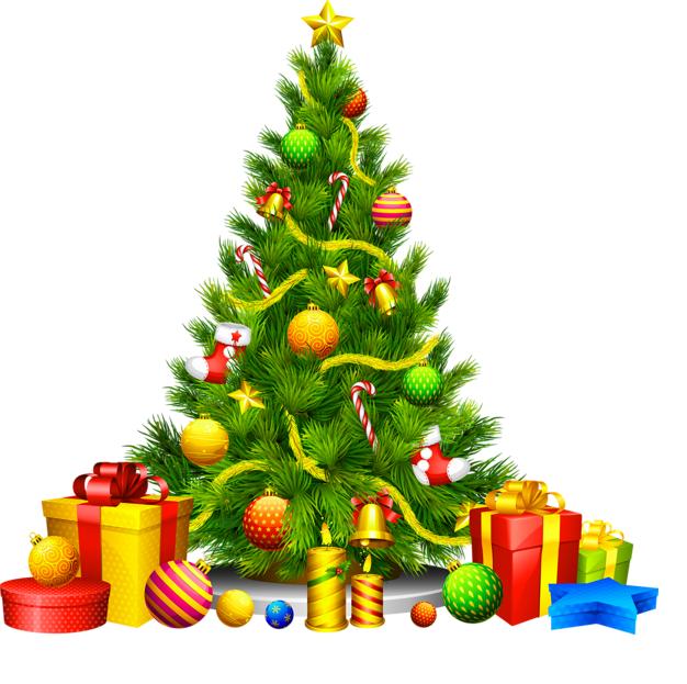 626x623 Tree Clipart Merry Christmas