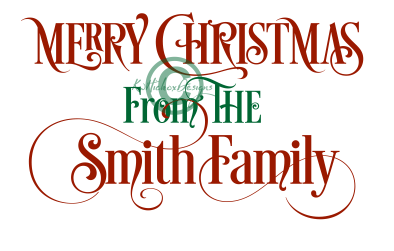 394x251 Merry Christmas From The Smith Family Svg, Christmas Png File