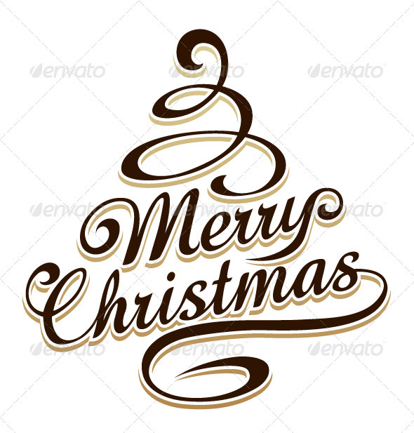 590x617 Merry Christmas Typography By Vecster Graphicriver
