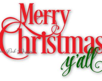 340x270 Merry Christmas Yall Svg File Pdf Dxf Png Jpg Ai