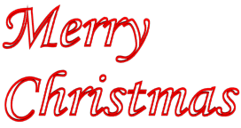 272x144 Merry Christmas Clipart Transparent