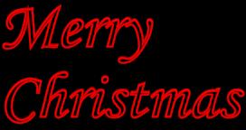 272x144 Merry Christmas Clipart Transparent