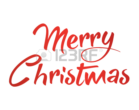450x358 The Gradient Red Isolated Hand Writing Word Merry Christmas