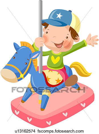 348x470 Clipart Of Cap, Elementary School Student, Carousel Ride, Merry Go