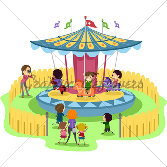 325x325 Kids Carousel Gl Stock Images