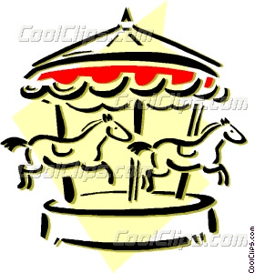 280x300 Merry Go Round Vector Clip Art