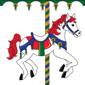 300x300 Carousel Horse Clipart Image