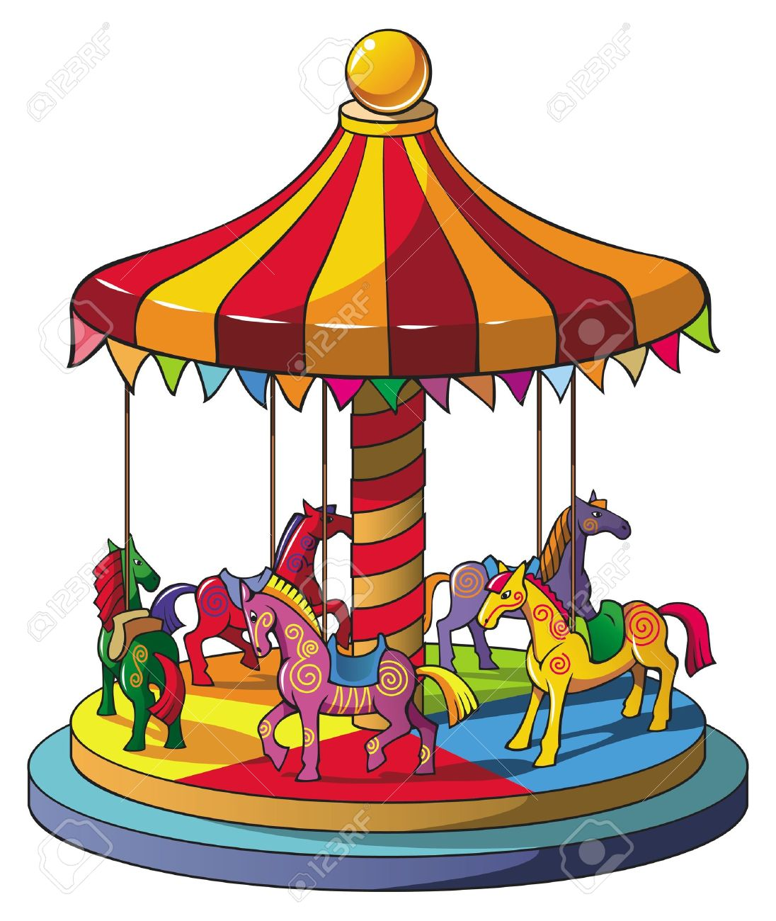 1096x1300 Carousel Clipart Merry Go Round