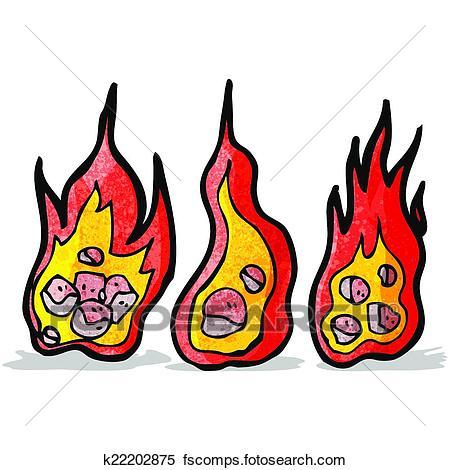 450x470 Clipart Of Flaming Meteor Cartoon K22202875
