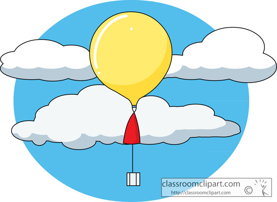 550x401 Weather Weather Balloon 226 Classroom Clipart