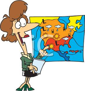 279x300 Free Clipart Image A Meteorologist Pointing To A Map Of The Weather