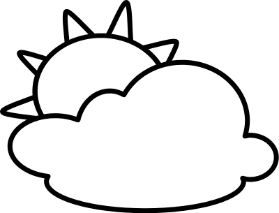 400x305 Partly Cloudy Clip Art