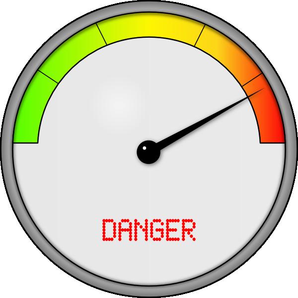 600x600 Danger Meter Clip Art