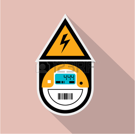 450x449 Electric Meter Unit Vector Illustration Clip Art Royalty Free