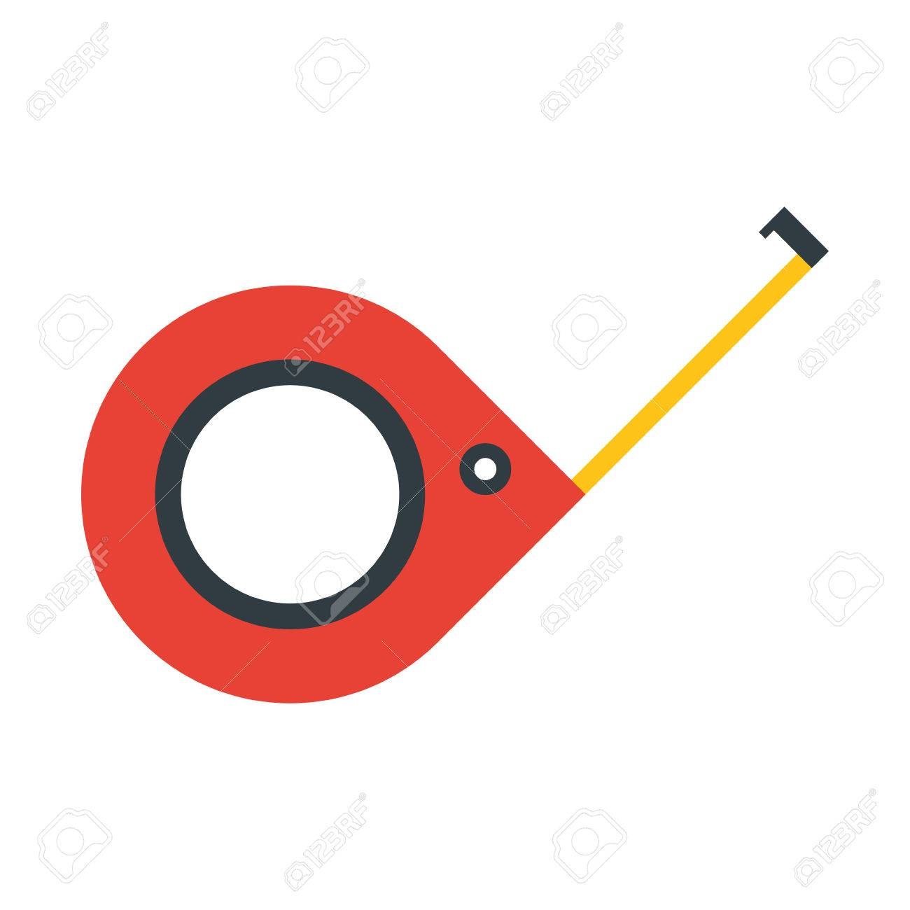 1300x1300 Meter Tool Construction Repair Icon. Flat And Isolated Design