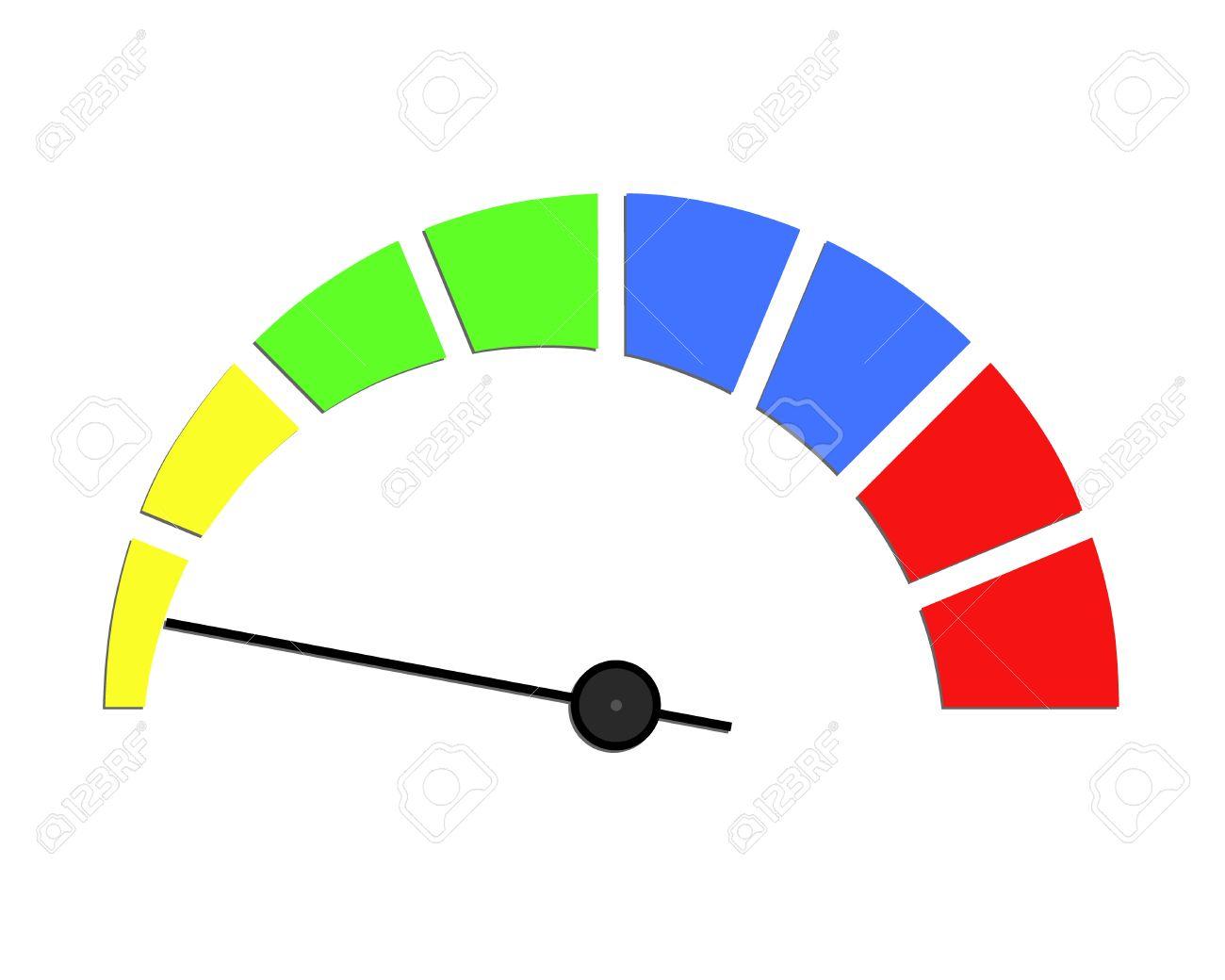 1300x1040 Speed Meter Or Rating Meter Visual Element. Colorful Sensor