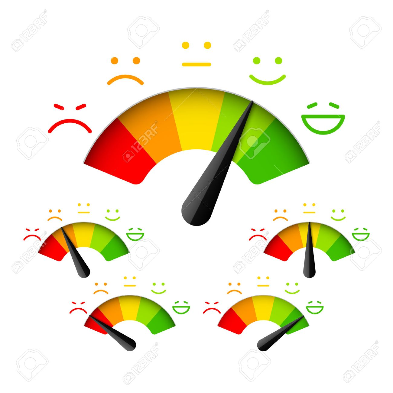 1300x1300 Customer Satisfaction Meter With Different Emotions Royalty Free