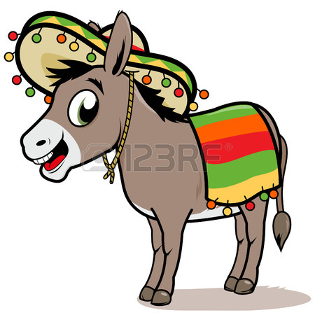 450x450 Cartoon Mexican Donkey Royalty Free Cliparts, Vectors, And Stock