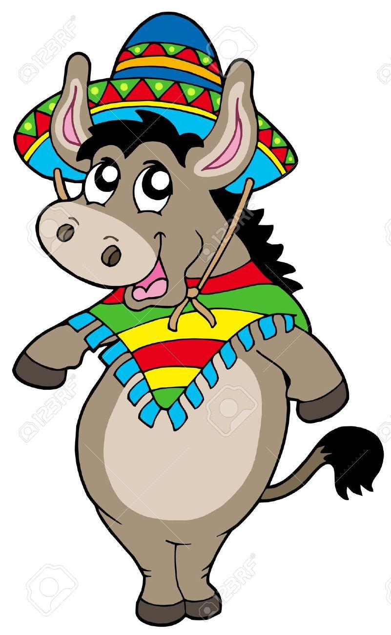 801x1300 Donkey Clipart Mexican Donkey