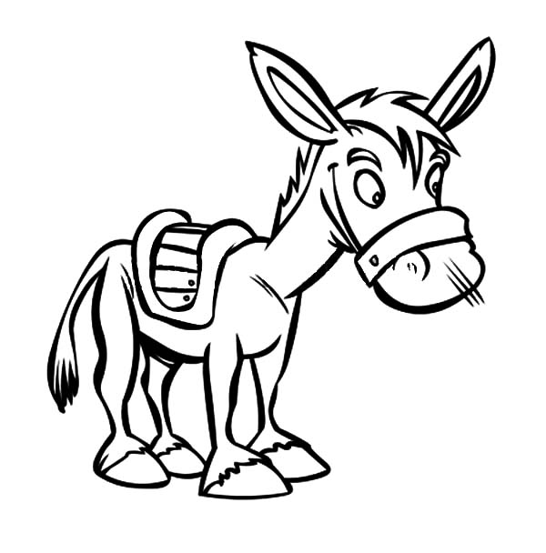 600x608 Little Mexican Donkey Coloring Pages Little Mexican Donkey