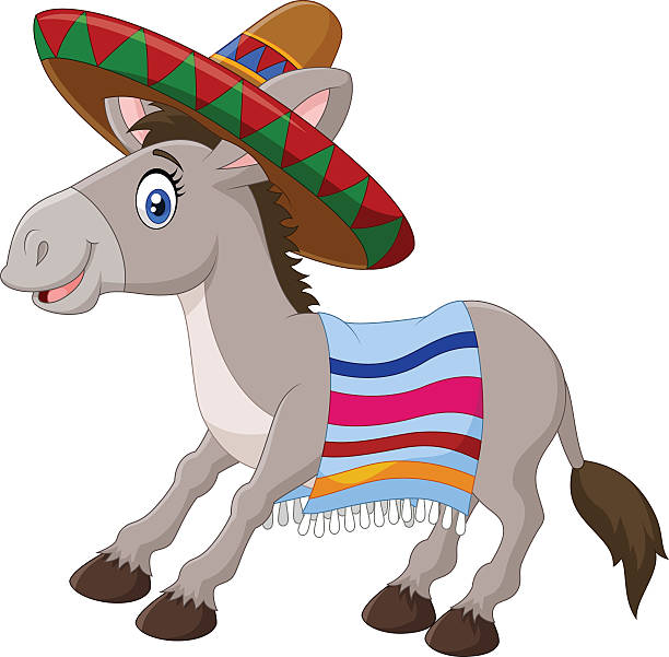 612x601 Mule Clipart Mexican Donkey