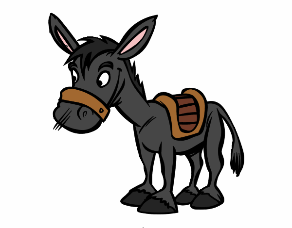 600x470 Cute Donkey Cartoon