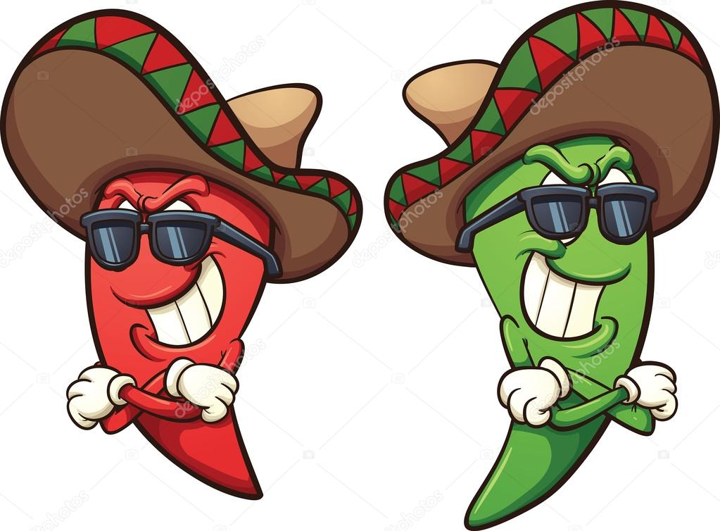 1023x754 Mexican Chili Peppers Stock Vector Memoangeles