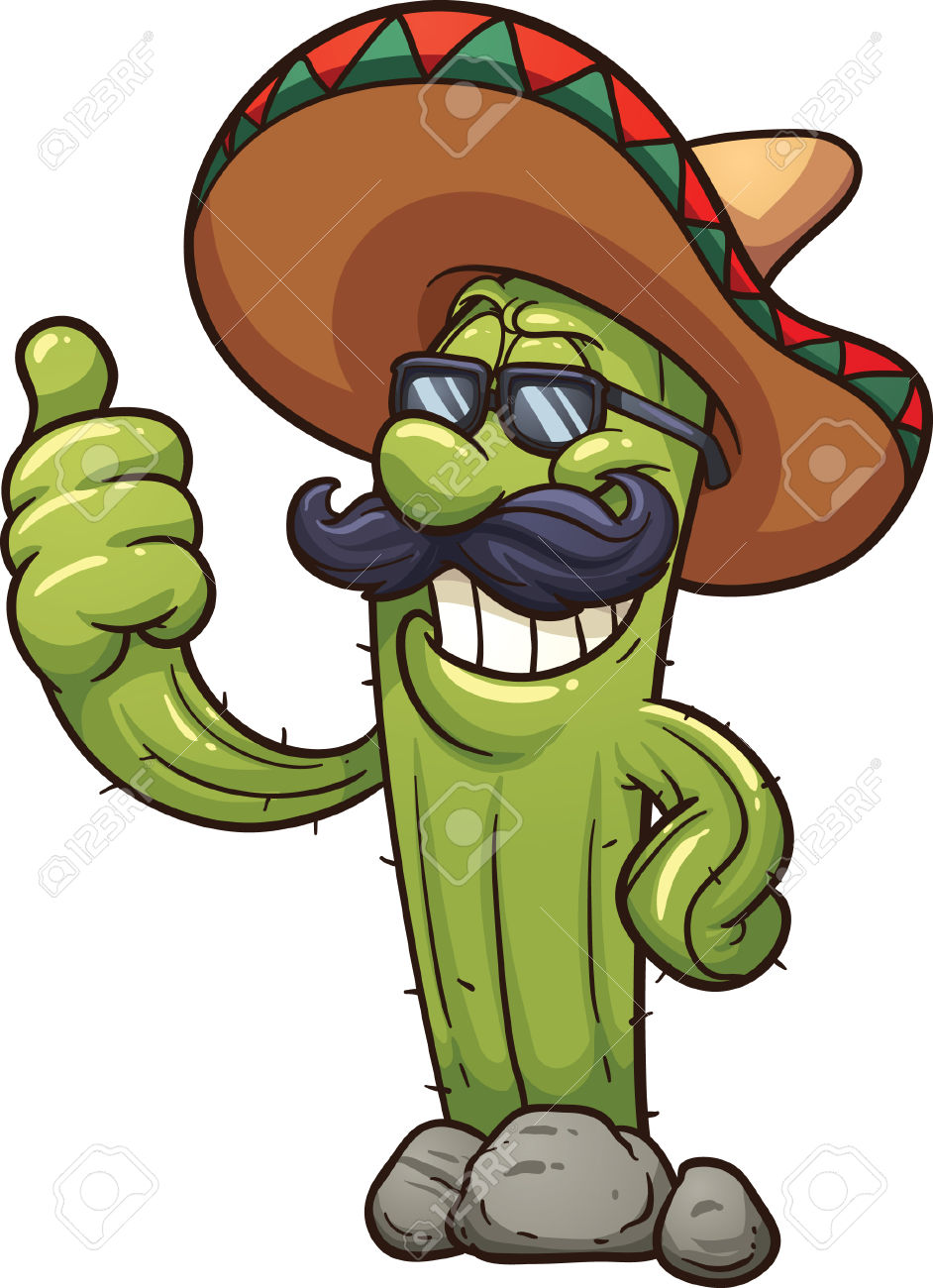 942x1300 Mexican Cactus Clipart