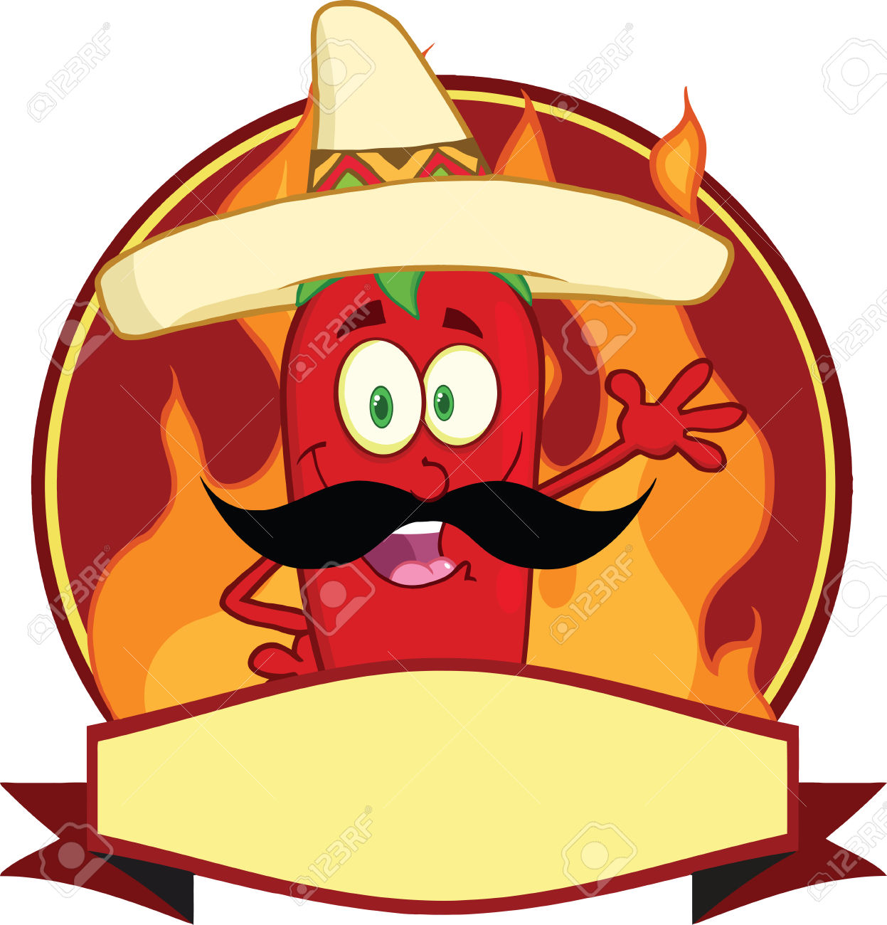 1247x1300 Mexican Chili Pepper Cartoon Mascot Logo Royalty Free Cliparts