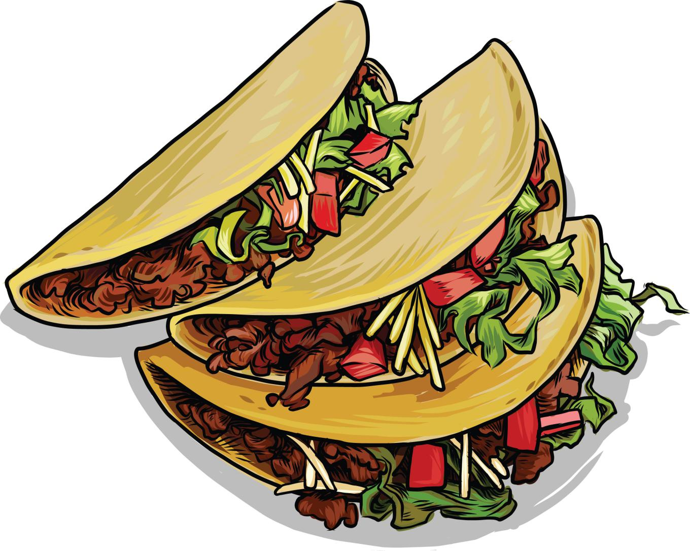 1360x1086 Plate Clipart Mexican Food