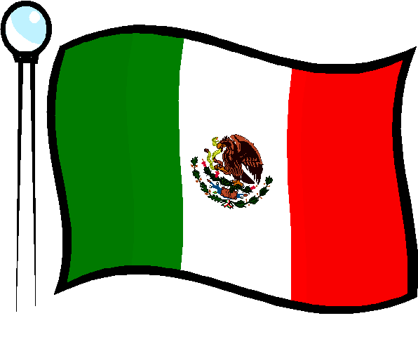 596x480 Simple Mexican Flag Clipart
