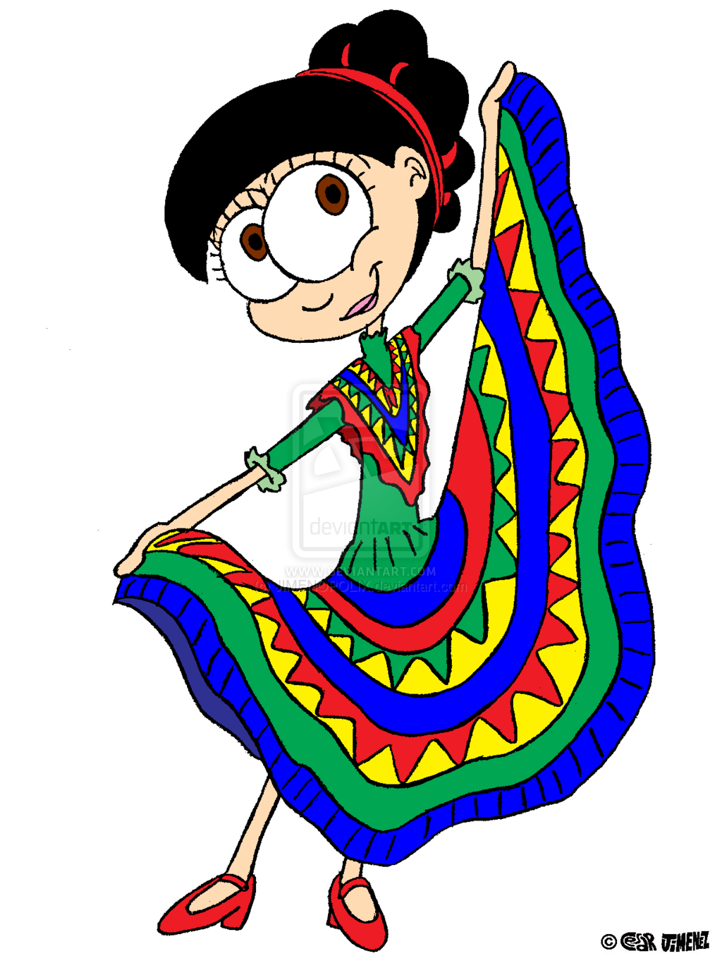 1024x1365 Traditional Costume Clipart Mexican Dancer
