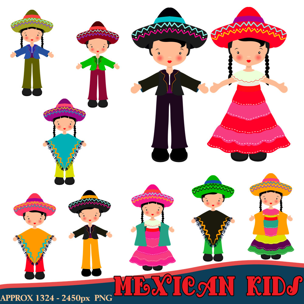 1000x1000 Traditional Clipart Mexican Dress
