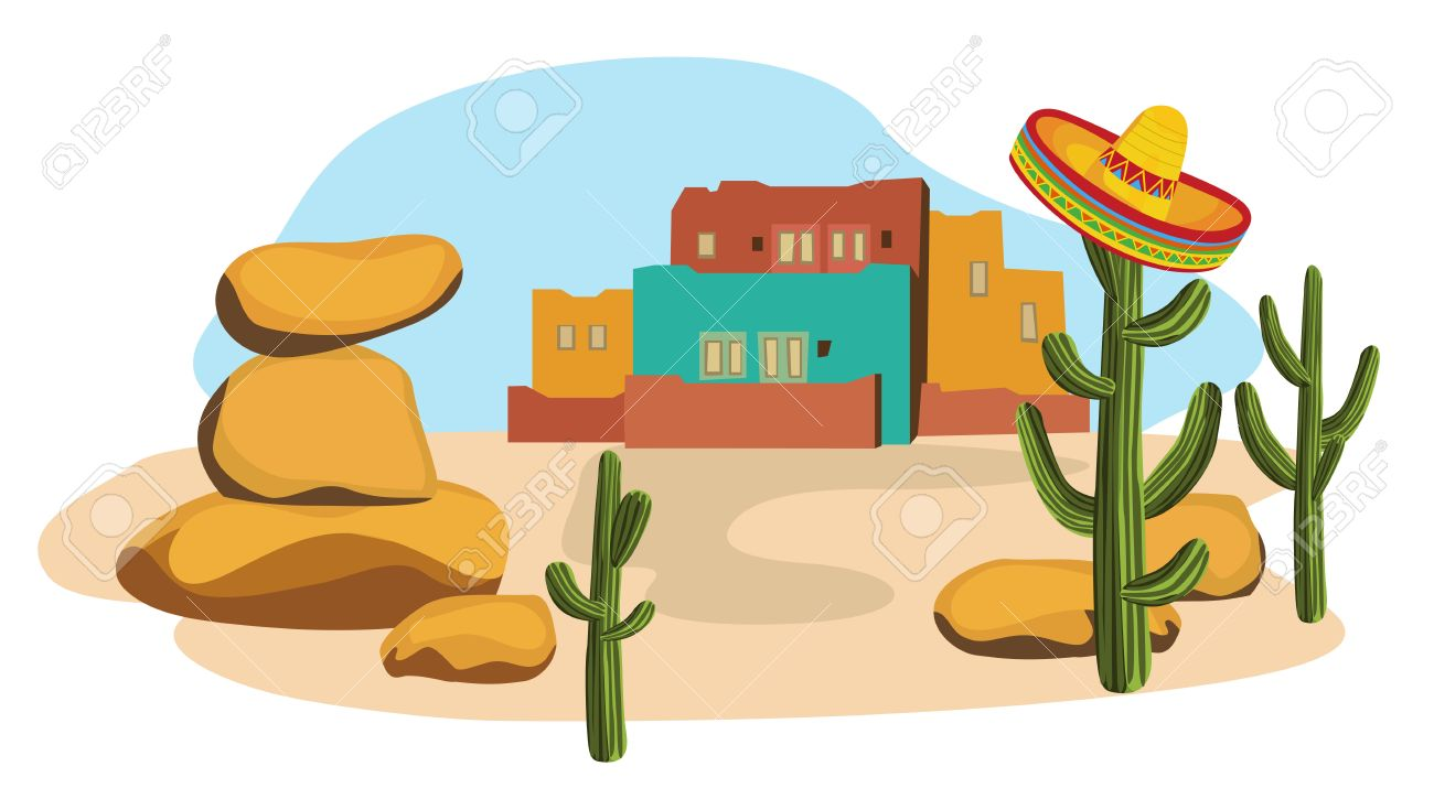 1300x725 Mexican Village Royalty Free Cliparts, Vectors, And Stock