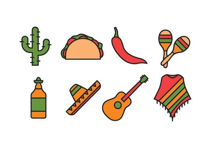700x490 Mexico Icon Set